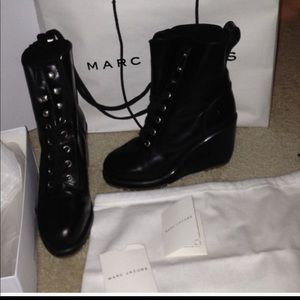 Marc Jacobs boots authentic herms calf 999 black